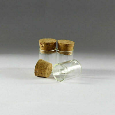 30pcs 5ml Empty Sample Vials Clear Glass Bottles with Corks Jars Small bottle