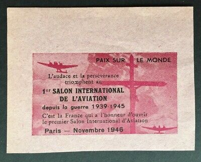 France Paris 1946 1st Salon International De L'Aviation Cinderella