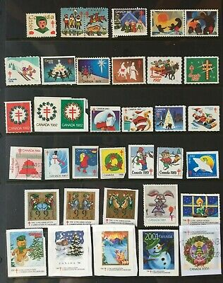Canada Christmas Seals Mixed Incl 1953-2006 Tuberculosis Lung Assoc Cinderellas