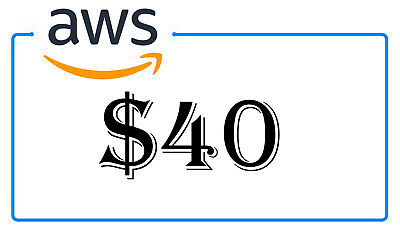 NEW $40 AWS Amazon Web Services Credit Code Lightsail PromoCode EC2