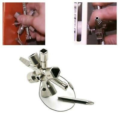 Multi-functional 10 in 1 Cross Key Wrench Hand Tools Electrician Plumber Valve