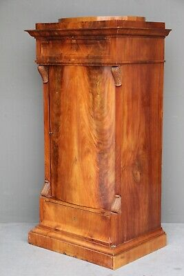 Antique Empire armoire Scandinavian ornate 1825 Biedermeier bookcase cabinet