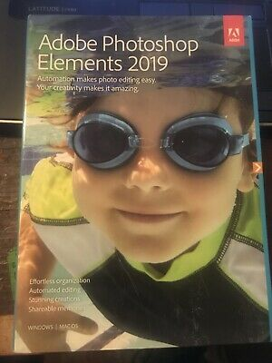 Adobe Photoshop Elements 2019 Software, Mac and Windows, Standard, DVD Boxed