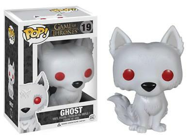 Pop Game of Thrones 19 Ghost figure Funko 3876 w/ Protector Case