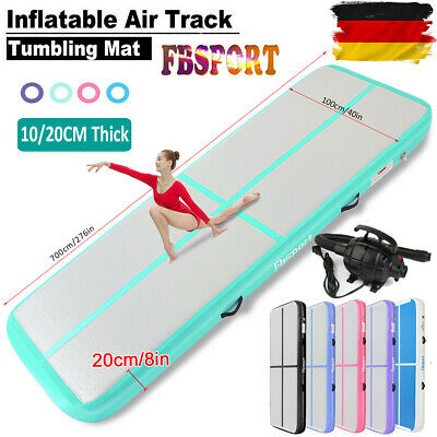 19/16Ft X20cm Aufblasbar Air Track Tumbling Home Gymnastikmatte Floor Mat +Pumpe