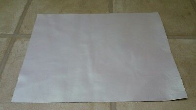 Pearl white  40cmx30cm large offcut 100% leather 1.4mm Craft patch repair