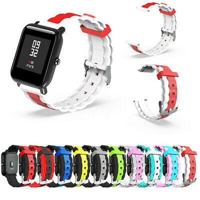 Silicone Watch Band Straps Wrist Clasp for Xiaomi Huami Amazfit Bip Youth Watch