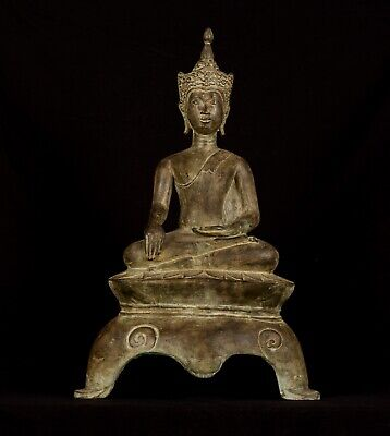 19th Century Antique Thai Chiang Mai Enlightenment Buddha Statue - 60cm/24""