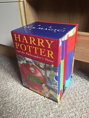 Harry Potter Complete Set 4 x Hardback Bloomsbury Ted Smart Collection in case