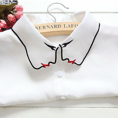 Trendy Dickey Clavicle False Dickey Collar Shirts Decorative Detachaable Blouse