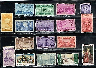(12-874) 15 Assorted Mint  US  Postage sTamps