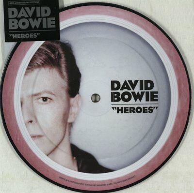 David Bowie, Heroes, NEW/MINT Ltd edition PICTURE DISC 7 inch vinyl single