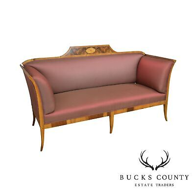 Antique 19th Century Biedermeier Style Inlaid Sofa