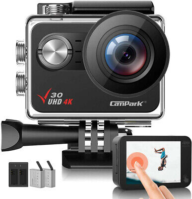 Campark 4K Action Camera 20MP EIS Anti-Shake Touch Screen 1080P Sport Waterproof