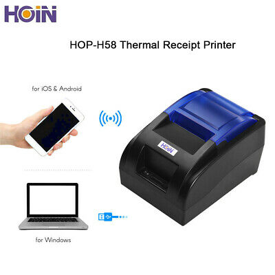 HOIN 58mm USB Connection Thermal Line Printer Ticket ESC POS Printer for Store