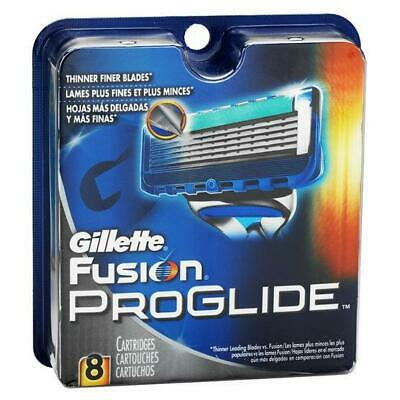 Gillette Fusion Proglide Blades Pack Of 8 Cartridges Brand New Genuine New