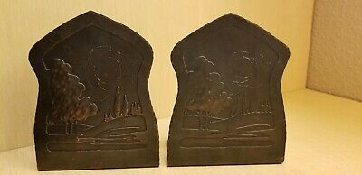 Cooper Arts And Crafts Book Ends Gustav Stickley Era