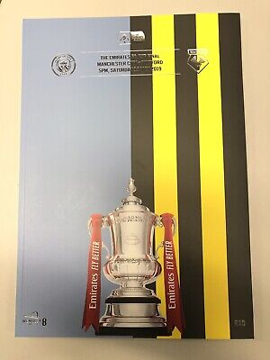 Fa Cup Final 2019 Programme Manchester City V Watford. 18/05/2019.  Mint Cond