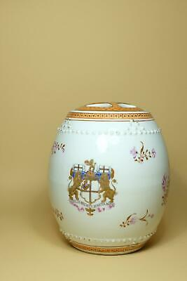 Antique 18th Chinese Export Famille Rose Porcelain Armorial vessel.
