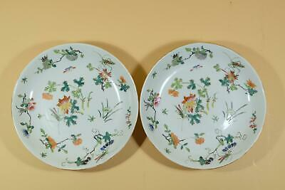 Pair Chinese Famille Rose Porcelain Dishes,Marked.