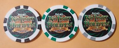 Palms Hotel Casino Las Vegas Nevada No Limit Hold'em Poker Complete Set Of Chips
