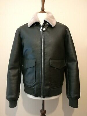500 MAISON CINQCENT Bomber Faux Leather Shearling Aviator