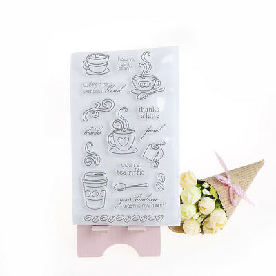 Coffee Time Transparents Clear Silicone Stamps For DIY ScrapbookingAlbumDecorsRD