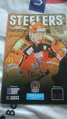 Sheffield Steelers match day programme from 4th March 2017 vs Coventry Blaze.