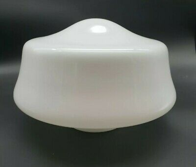 Antique Art Deco Opaline Glass Ceiling Light Shade LARGE #2