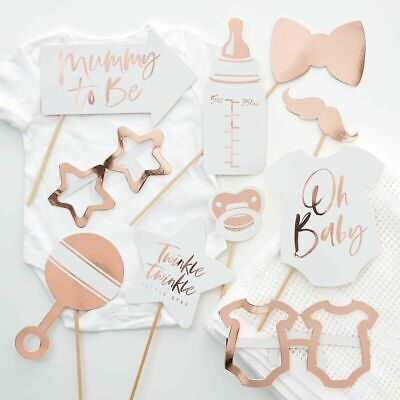 PHOTO BOOTH PROPS Rose Gold Baby Twinkle Little Star Shower Christening Birthday