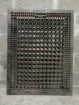 ~ Large Antique Cast Iron Cold Air Return Grate ~ 26 X 34 ~Architectural Salvage