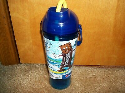 Hershey Park Refillable Sports Bottle Theme Park Drink Cup Blue PEPSI NEW!!!