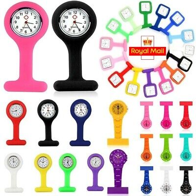 Silicon Nurses Fob Watch with Brooch Pin Batteries Included Multicolor Choice