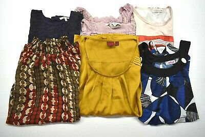 Lot Of 6 Womens Sz Small Tops Graphic Printed Summer Spring Blouses Shirts