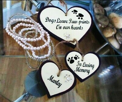 'Personalised pet 'dogs leave paw prints' memorial gift plaque sign