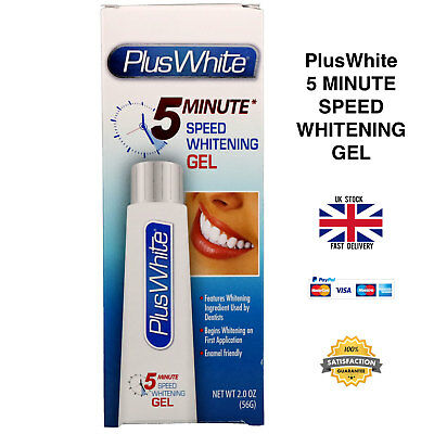 Plus White Premier 5 Minute Speed Teeth Whitening Gel 56g 2oz - UK SELLER