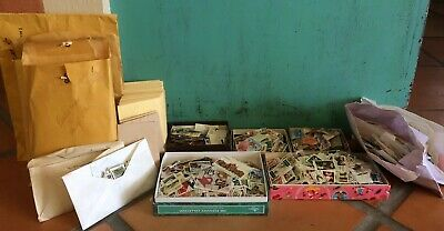 HUGE Collectors Lot of Mixed Vintage Unsearched Postage Stamps Estate Find