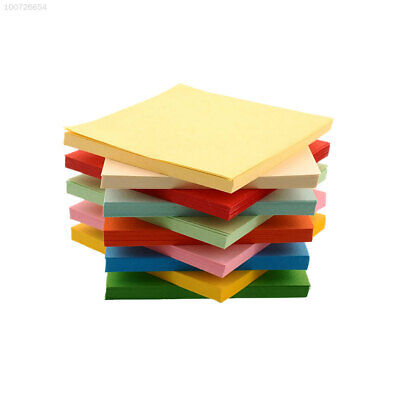 686B 100Pc Origami Square Hand Paper Double Sided Coloured Scrapbooking New 8CM