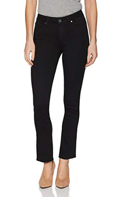 11940390e528 NWT PAIGE Women's Jacqueline Straight Leg Jeans,SIZE:28,Color: Black Shadow