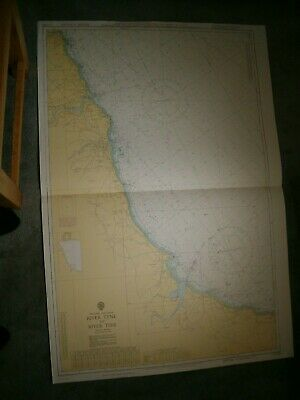 Vintage Admiralty Chart 152 UK - RIVER TYNE to RIVER TEES 1975 edn