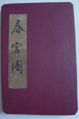 Antique Japanese Shunga Pillow Book-Explicit Erotica-Accordian Mount (C)