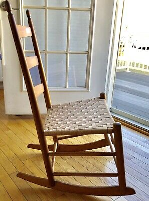 Antique Shaker Childs Rocker - Ladder Back Rocking Chair