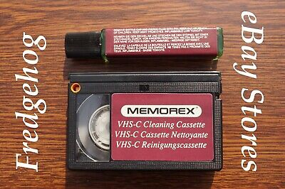 Memorex Vhs-C Camcorder Head Cleaning Tape / Cleaner Cassette. Wet Or Dry Type