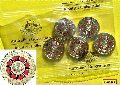 5 x 2019 UNCIRCULATED $2 100 YEARS OF REPATRIATION COINS IN RAM PACK 161048b...*