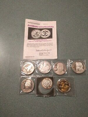 .999 Fine Silver Coin and 24k gold Lot 6.5 Oz Total.  Old coins 1980s purchased