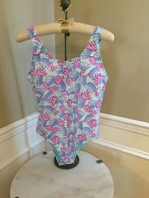 a199582d6e NWT Vineyard Vines $108 Pineapple Printed Low Back One Piece Bathing Suit  Medium
