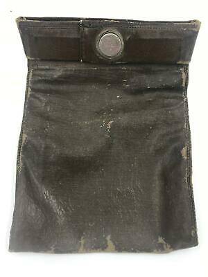 Vintage Leather Deposit Bank Money Bag With Lock And Keys