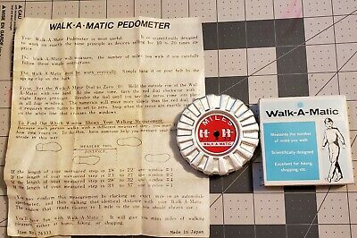 Vintage Walk-A-Matic Walking Step Counter Pedometer