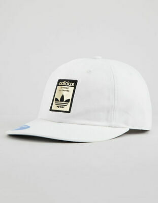 80eb17994e4d3 NWT Adidas Men s Originals Relaxed Base Strapback Hat - White Black Gold