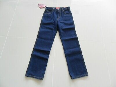 Thomas Cook Kids Denim Jeans Straight Leg Regular Fit Dark Indigo Size 12 Cotton